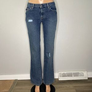 Tommy Hilfiger Boot Cut Distressed Jeans Size 6